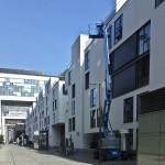 Fassadenarbeiten im Rheinauhafen Köln